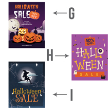 Personalized Halloween Sale Poster - 22 X 28 Inch