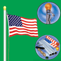 18 Foot High Flag Pole Kit