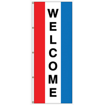 Welcome Vertical Message Flag