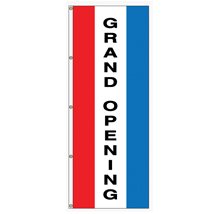 Grand Opening Vertical Message Flag