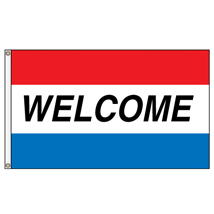 Welcome Horizontal Message Flag