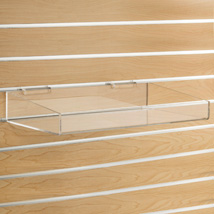 Acrylic Tray for Slatwall - 18 in. W x 10 in. D x 4 in. H