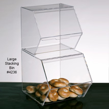 Acrylic Stackable Storage Food Bin - 12 x 18 x 12