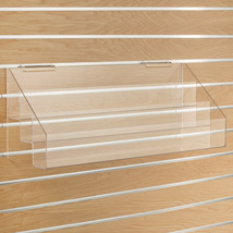 3-Tier Acrylic Slatwall Shelf