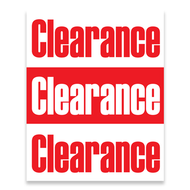 Clearance Promotional Poster