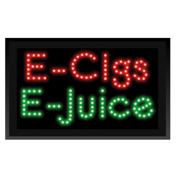 Led E Cigs And E Juice Sign
