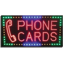 Phone Cards LED Sign