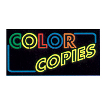 Color Copies Neon Like Illuminated Sign