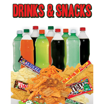 Drinks & Snacks Sign