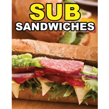 Sub Sandwiches Sign