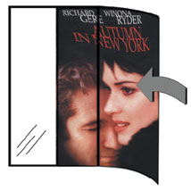Movie Poster Sleeve with Signs - 27 x 41 inch