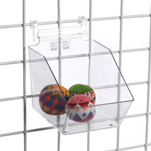 Clear Plastic Grid Bins - 6 In. W X 7 1/2 In. D X 5 1/2 In. H