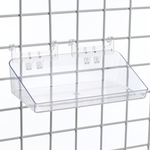Clear Plastic Grid Bins - 12 in. W x 6 1/2 in. D x 3 in. H