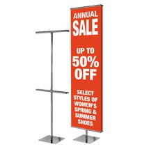Floor Standing Adjustable Banner Stand