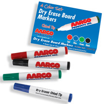 Set of 4 Dry-Erase Colored Markers