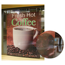Custom Perforated Window Sign