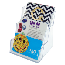 3 Card Acrylic Gift Card Holder