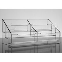 Acrylic Six Compartment Business Card Holder