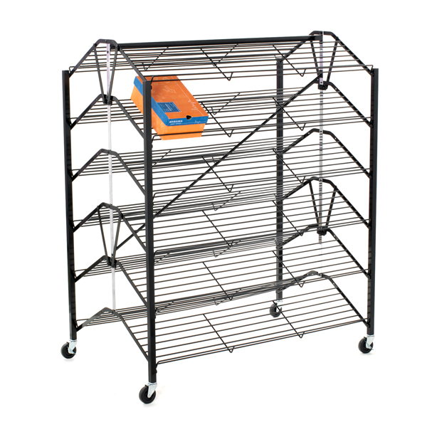 Retail Shoe Display Rack - Double-Sided Folding Design - 48 x 29.5 x 55