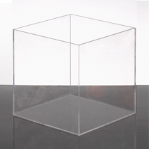 Clear Acrylic Display Cube - 10 Inch