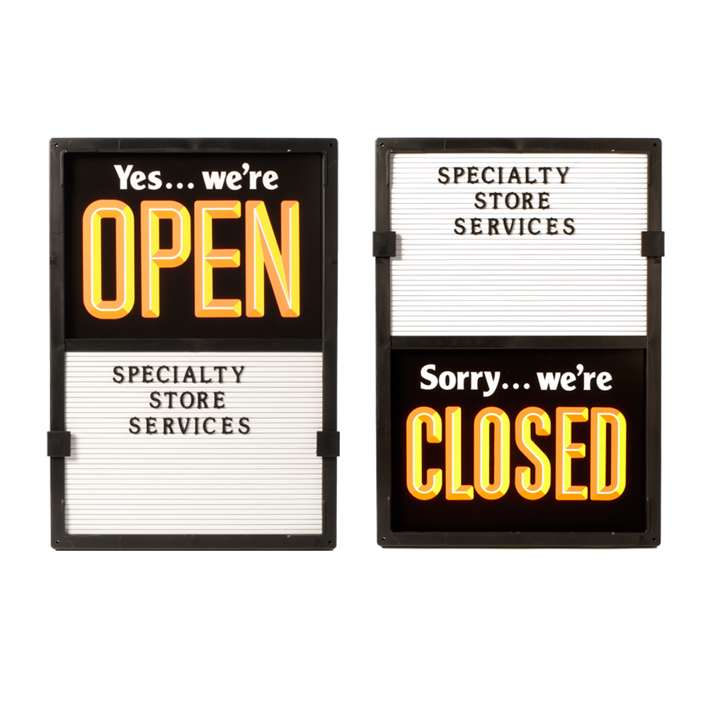 Vertical Open Close Sign