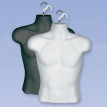 Male Upper Torso Molded Half Form With Hangin