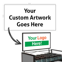 Custom Sign for Heavy Duty Racks - 24 in. W x 12 in. H