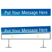 Custom Sign - 28 In. W X 4 In.  H