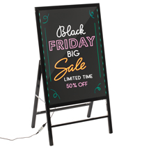 A-Frame Led Illuminated Erasable Message Sidewalk Sign