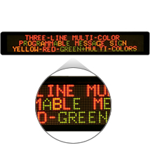 1 Line Multi-Color LED Message Board Display