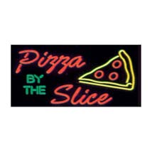 Pizza By The Slice  Neon Like Illuminated Sign
