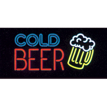 Cold Beer Neon-Like Illuminated Sign