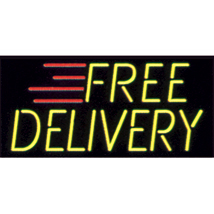 Free Delivery Neon Like Illuminated Sign