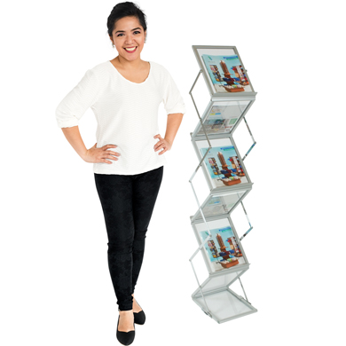 Portable Literature Holder Magazine Stand With Carrying Case