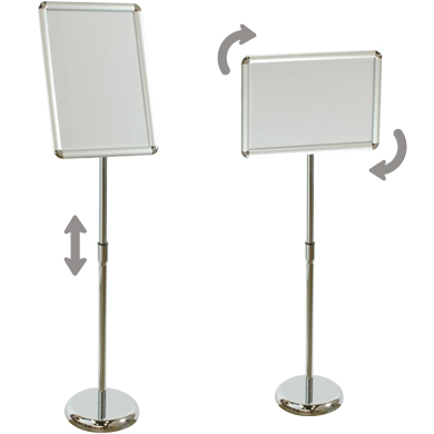 A3 Sign Floor Stand With Adjustable Display & Snap Frame