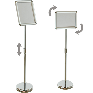 A4 Sign Floor Stand With Adjustable Display