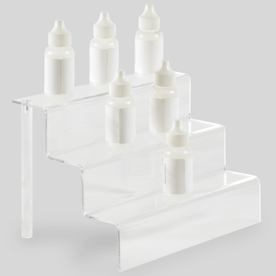 3-Tier Acrylic Step Riser Display - 9 Inch Wide