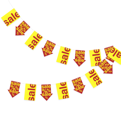 220 Inch Red And Yellow Sale Flags Garland
