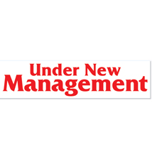 72 X 28 Under New Management Vinyl Banner Sign