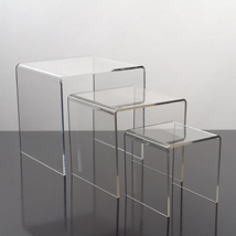 3 Pc. Small Acrylic Display Risers
