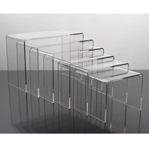 6 Pc. Acrylic Display Risers