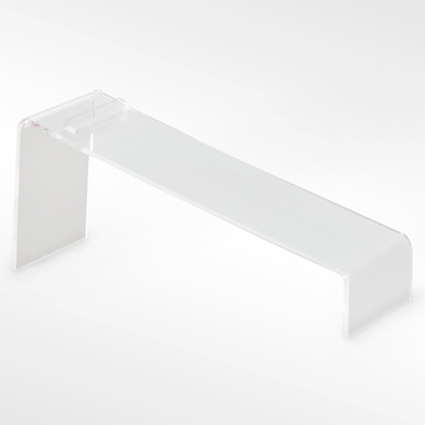 Slanted Acrylic Shoe Riser Display