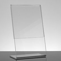 Acrylic Slant Style Sign Holder