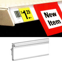 Self-Adhesive Label Holder For Shelf Channels