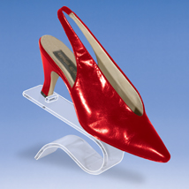 Contoured Acrylic Shoe Display