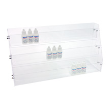 3 Tier Acrylic E Juice Display - 21 in. W x 6 in. D x 11 in. H