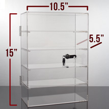 5 Shelf Acrylic Locking Display Showcase
