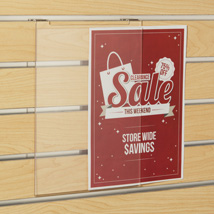 Acrylic Slatwall Sign Holder - 8.5 in. W x 11 in. H