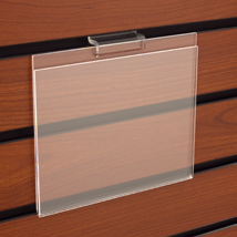 Acrylic Slatwall Sign Holder - 7 in. W x 5.5 in. H