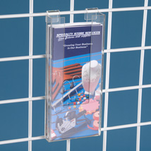 Acrylic Brochure Holder For Grid - 4 In. W X 1 1/2 In. D X 9 In. H